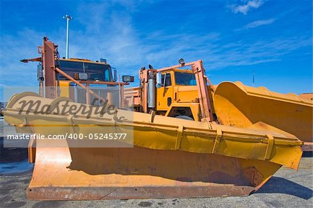 Orange plow truck ready to work. Stock Photo - Budget Royalty-Free, Image code: 400-05245377