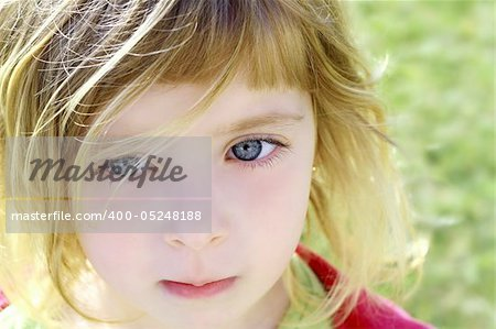 beautiful blond little girl children portrait outdoor in park Stock Photo - Budget Royalty-Free, Image code: 400-05248188