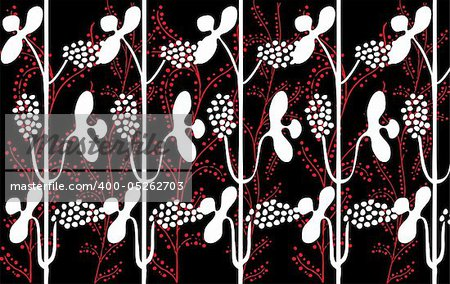 Retro floral seamless background in editable vector format