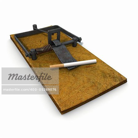 3d illustration on nicotine addiction Stock Photo - Budget Royalty-Free, Image code: 400-05269076