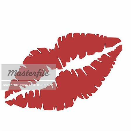 Vector illustration of close up of lips