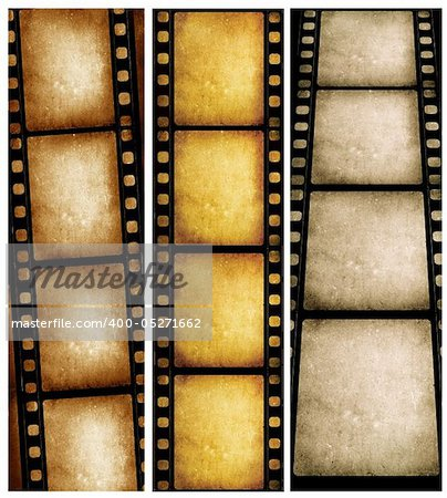 Close up of vintage movie film strips Stock Photo - Budget Royalty-Free, Image code: 400-05271662