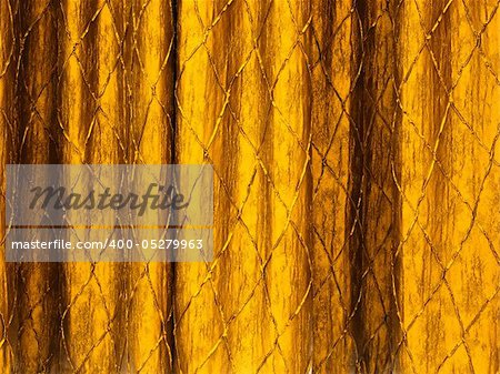 Texture of Gold curtains on a stage background
