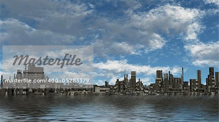 Future City Stock Photo - Budget Royalty-Free, Image code: 400-05283379