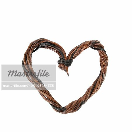 Artistic heart woven from wood and wire  Wooden heart decorations with words of wisdom