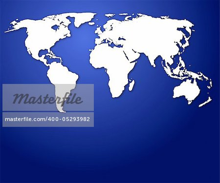 world map or globe with copyspace for a text message Stock Photo - Budget Royalty-Free, Image code: 400-05293982