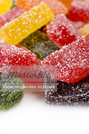 delicious sweet candies in sugar. white background Stock Photo - Budget Royalty-Free, Image code: 400-05301655