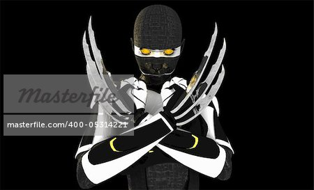 3d illustration of a cyborg character Stock Photo - Budget Royalty-Free, Image code: 400-05314221