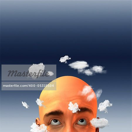 Head in clouds Stock Photo - Budget Royalty-Free, Image code: 400-05315504