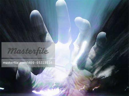 Hand Fear Stock Photo - Budget Royalty-Free, Image code: 400-05315514