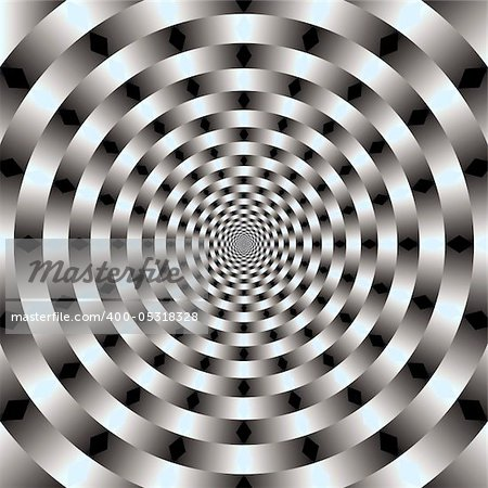 Abstract design with geometric shapes optical illusion illustration Stock Photo - Budget Royalty-Free, Image code: 400-05318328
