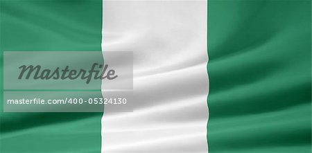 High resolution flag of Nigeria Stock Photo - Budget Royalty-Free, Image code: 400-05324130