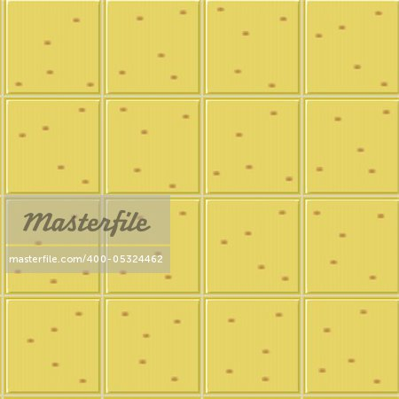 yellow ceramics seamless pattern, abstract texture; vector art illustration