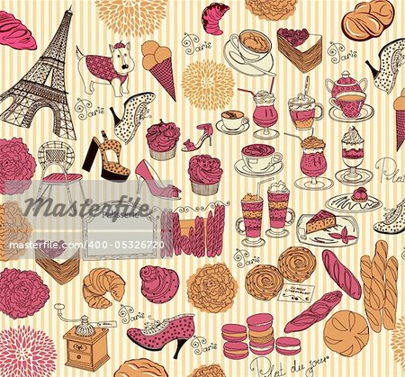 Vector Collection symbols of Paris Stock Photo - Budget Royalty-Free, Image code: 400-05326720