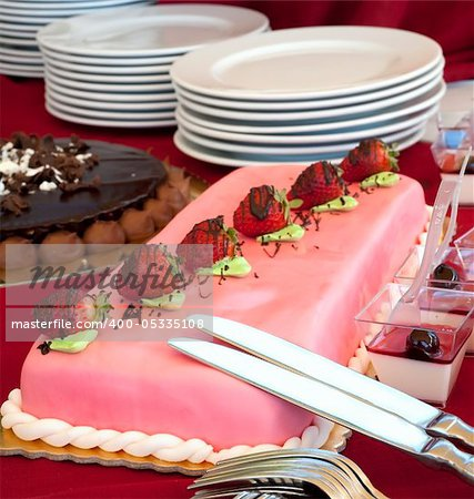some cake and dessert during a wedding banquet