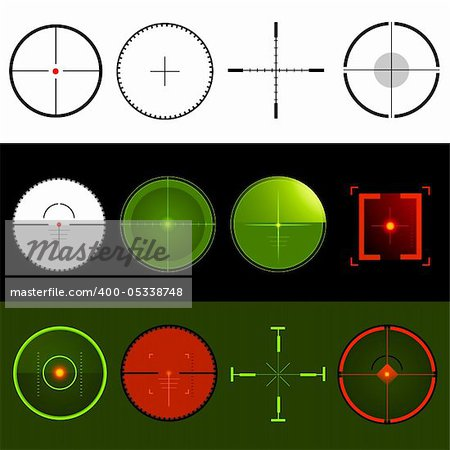 Vector Target Crosshairs Stock Photo - Budget Royalty-Free, Image code: 400-05338748