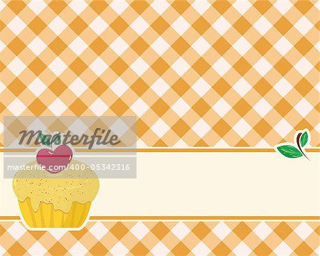 abstract brown-yellow checkered background decorated cake
