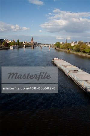 Streets of Frankfurt Stock Photo - Budget Royalty-Free, Image code: 400-05350270