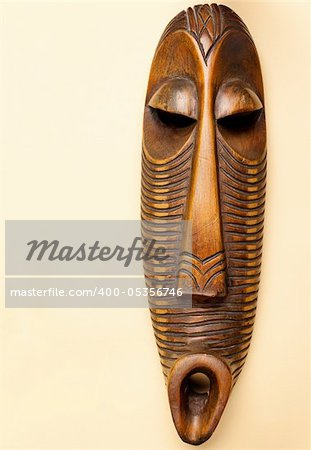 Traditional wooden African tribal mask Stock Photo - Budget Royalty-Free, Image code: 400-05356746