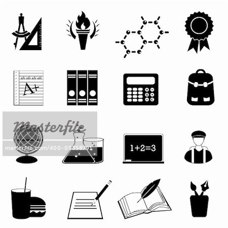 Back to school and education icons