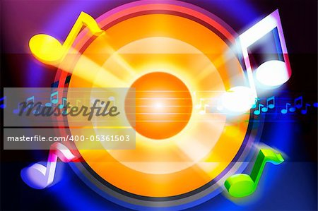 Music motive in strong colors