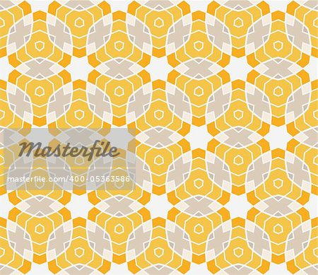 Seamless pattern with circles, lines and stars