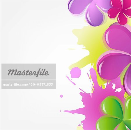 Abstract Flowers, Vector Illustration Stock Photo - Budget Royalty-Free, Image code: 400-05371833