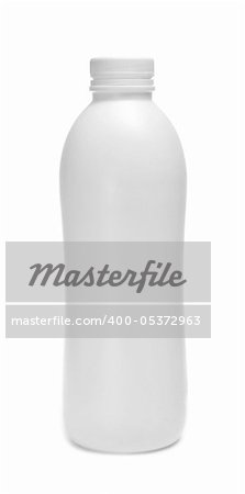 a white bottle on a white background