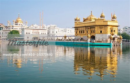 Golden Temple/Darbar Sahib, the spiritual and cultural center of the Sikh religion, India Stock Photo - Budget Royalty-Free, Image code: 400-05373692