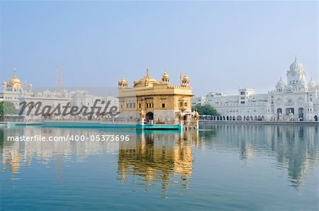 Golden Temple/Darbar Sahib, the spiritual and cultural center of the Sikh religion, India Stock Photo - Budget Royalty-Free, Image code: 400-05373696