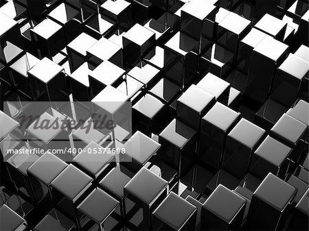 Abstract background from cubes Stock Photo - Budget Royalty-Free, Image code: 400-05373698