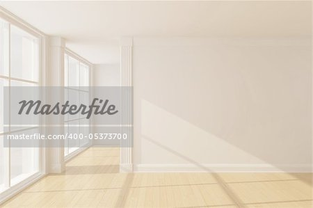 Empty new room with big window Stock Photo - Budget Royalty-Free, Image code: 400-05373700