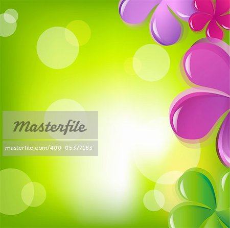 Flowers And Bokeh, Vector Illustration Stock Photo - Budget Royalty-Free, Image code: 400-05377183