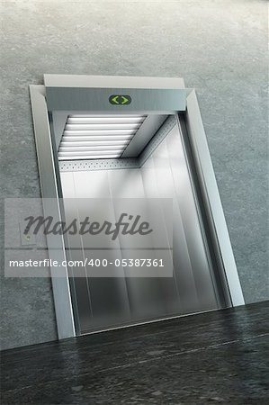 modern elevator with open doors Stock Photo - Budget Royalty-Free, Image code: 400-05387361