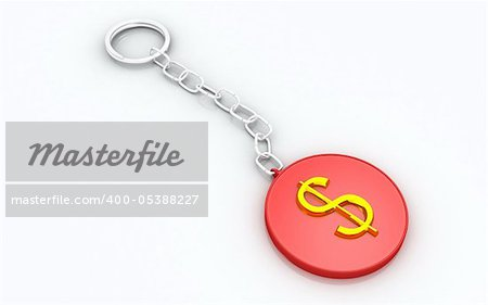 3D Dollar with key chain