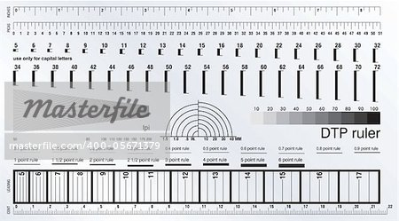 Desktop publishing measure ruler Stock Photo - Budget Royalty-Free, Image code: 400-05671379