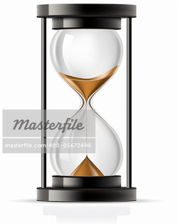 Sand flowing through an hourglass front view Stock Photo - Budget Royalty-Free, Image code: 400-05672494