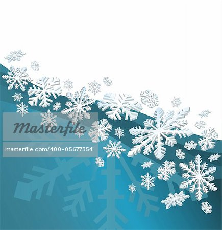 Abstract christmas background with snowflakes and a space for text