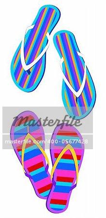 Hawaiian Flip Flop Clip Art