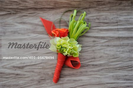 Image of a creatively designed  boutonniere Stock Photo - Budget Royalty-Free, Image code: 400-05678494