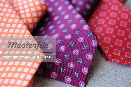 Image of 3 ties on white wood background Stock Photo - Budget Royalty-Free, Image code: 400-05678502