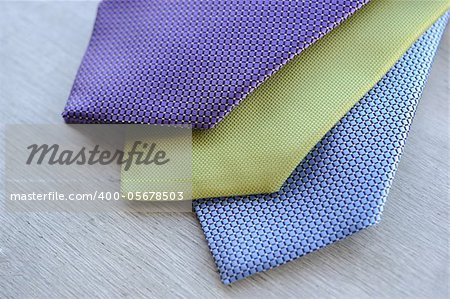 Image of 3 ties on white wood background Stock Photo - Budget Royalty-Free, Image code: 400-05678503