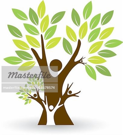 Illustration art of a family tree with isolated background Stock Photo - Budget Royalty-Free, Image code: 400-05678574