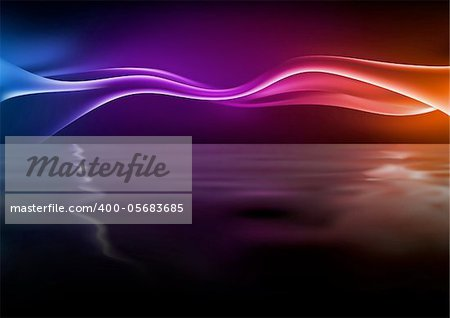 Abstract Waves - Background illustration with rippling effect, Vector