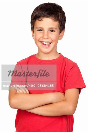 Beautiful boy isolated on a over white background Stock Photo - Budget Royalty-Free, Image code: 400-05684185