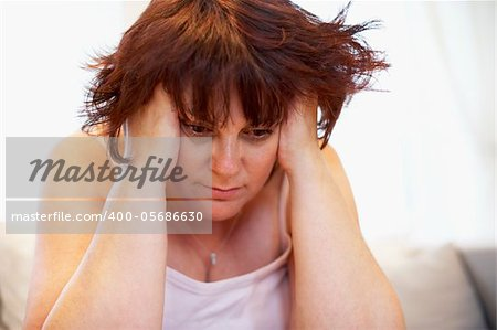 Depressed Overweight Woman Stock Photo - Budget Royalty-Free, Image code: 400-05686630