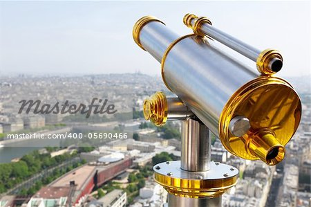 Eiffel Tower telescope Stock Photo - Budget Royalty-Free, Image code: 400-05690466