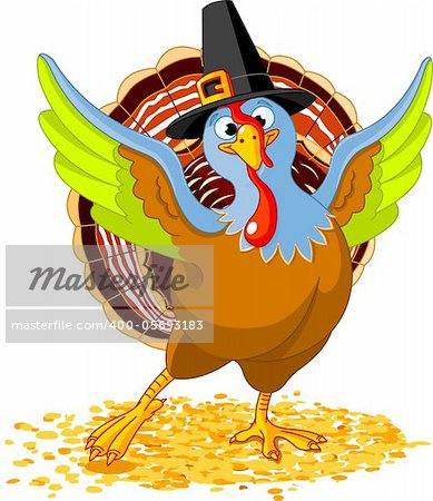Illustration of Happy Thanksgiving Turkey Stock Photo - Budget Royalty-Free, Image code: 400-05693183