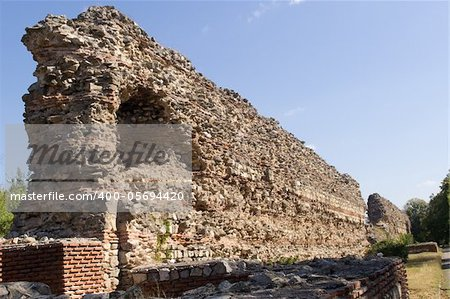 The Wall of  the ancient roman fortress in Hissarya - Bulgaria