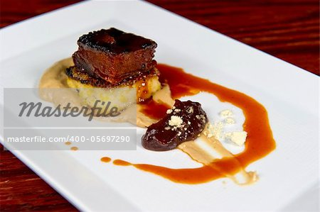 Image of a beautifully prepared pork dish Stock Photo - Budget Royalty-Free, Image code: 400-05697290